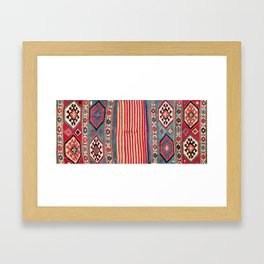 Shahsavan  Antique Azerbaijan Persian Khorjin Print Framed Art Print