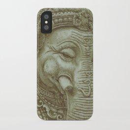 Ganesh green iPhone Case