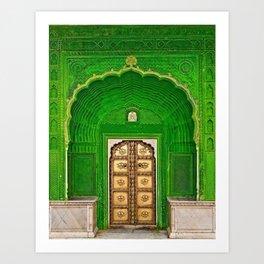 Ganesh Palace in Jaipur India Doorway Art Print