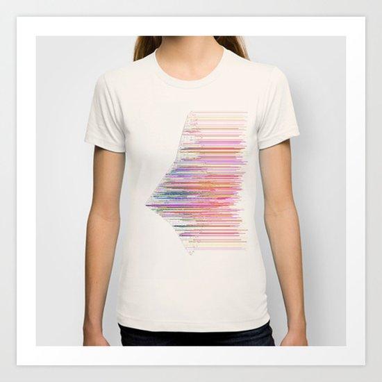 glitchship Art Print