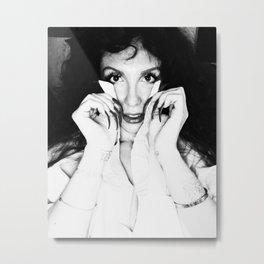 Tara nails black and white Metal Print