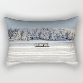 Afternoon Ice Fishing Rectangular Pillow