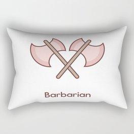 Cute Dungeons and Dragons Barbarian class Rectangular Pillow
