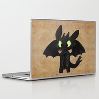 toothless Laptop & iPad Skins featuring Toothless  by Walko