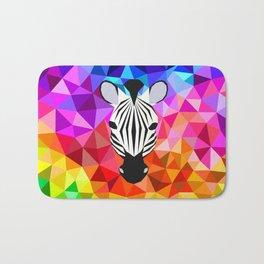 Zebra Dazzle Bath Mat