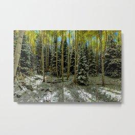 Colorado Autumn Snowstorm Metal Print