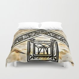Masonic Symbolism Duvet Cover