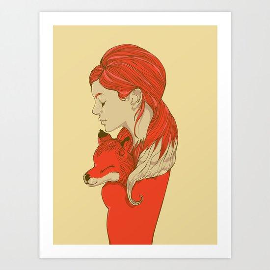 Lady Fox Art Print