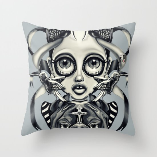 """Tattoeums III"" Throw Pillow"