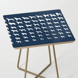 All Dogs (Navy) Side Table