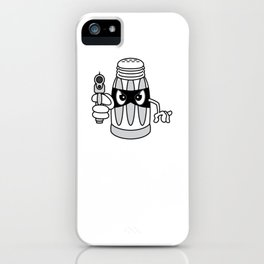 """""""A Salt With A Deadly Weapon"""" cute but stubborn tee design made perfectly for salt-tee lovers!  iPhone Case"""