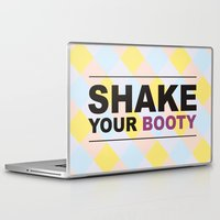booty Laptop & iPad Skins featuring Shake your booty! by Deni Soares
