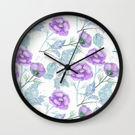 Lilac flowers. Wall Clock