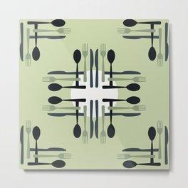 Silverware Pattern Metal Print