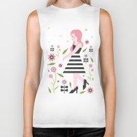 dress Biker Tanks featuring Monochrome Dress by Carly Watts