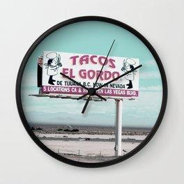 Tacos Wall Clock