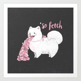 Fido, That's So Fetch! (In Grey) Art Print