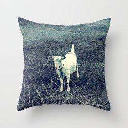 Independent Goat Throw Pillow