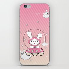 Space Bunny Flying iPhone & iPod Skin