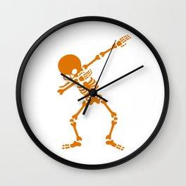 Skeleton Dab Wall Clock