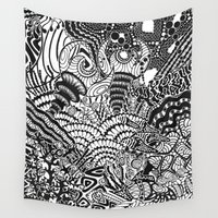 under the sea Wall Tapestries featuring Under the sea by Ommou