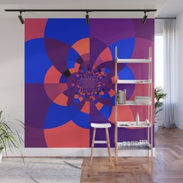 Kaleidoscope Purple Melon Cobalt Blue Wall Mural