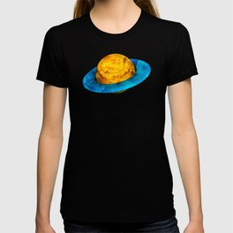 Colorful watercolor hand drawn planet. T-shirt