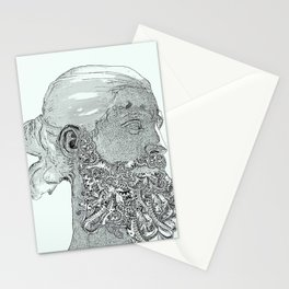 Hipster Neptune - Marble Stationery Cards