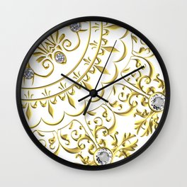 Beautiful Flourish Medallion Wall Clock