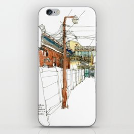 vintage city iPhone Skin