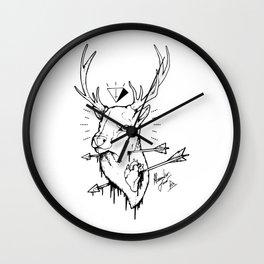 DEER & HEART Wall Clock