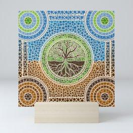 Yggdrasil- Tree of life Dot Art #1 Mini Art Print