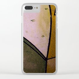 Earth colors Clear iPhone Case