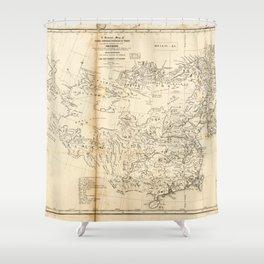 Map of China Chinese-Tartary & Tibet (1834) Shower Curtain