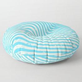 surreal swirl (blue) Floor Pillow