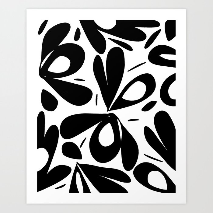 ink flower petals 2 Art Print
