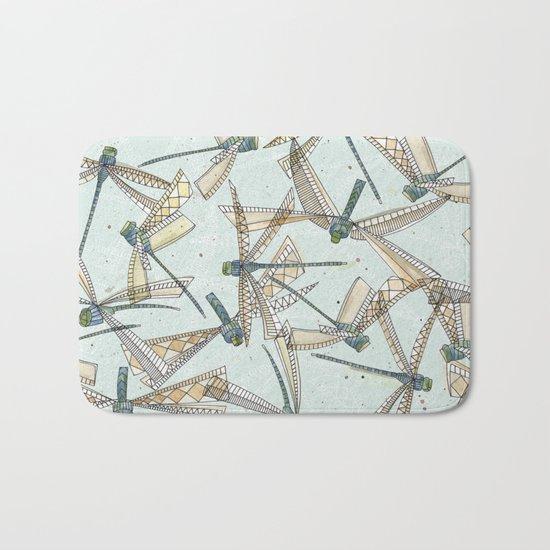 watercolor dragonflies Bath Mat