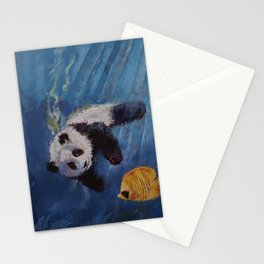 Panda Diver Stationery Cards