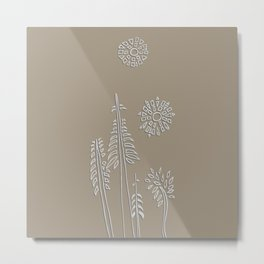 Forest Bathing - Taupe  Metal Print