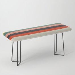 modern abstract stripe geometric Bench