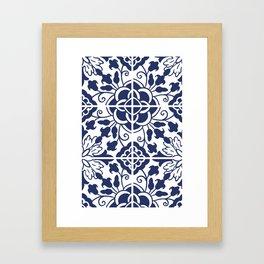 Italian Blue Pattern Framed Art Print