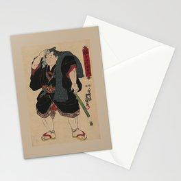 Sumo Wrestler Japanese Woodcut Block Print Stationery Cards