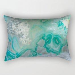 Teal Quartz Geode Rectangular Pillow