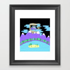 time space and the web Framed Art Print