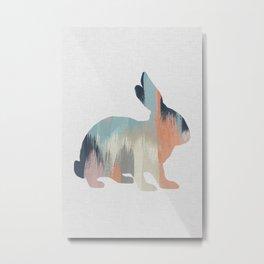 Pastel Rabbit Metal Print