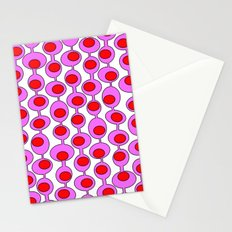 Retro Pattern 1 - White Stationery Cards