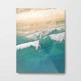 Turquoise Sea Beach Metal Print