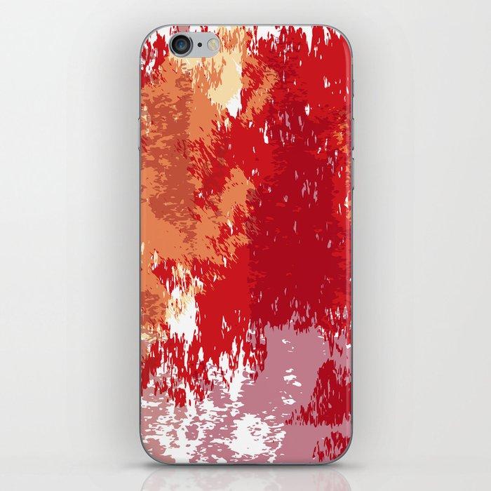 Red Orange Watercolor iPhone Skin