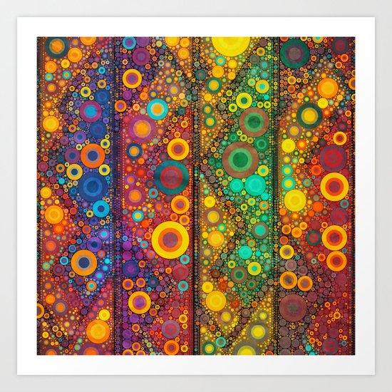 Bubble Mosaic Art Print