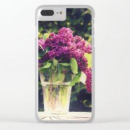 Lilac Bouquet Clear iPhone Case